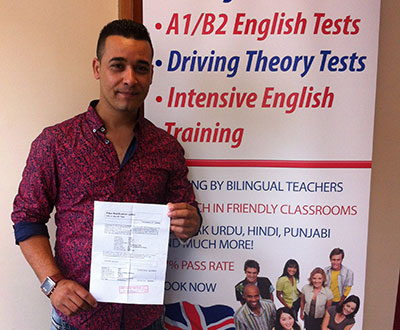 Student who has passed Life in the UK test 2017