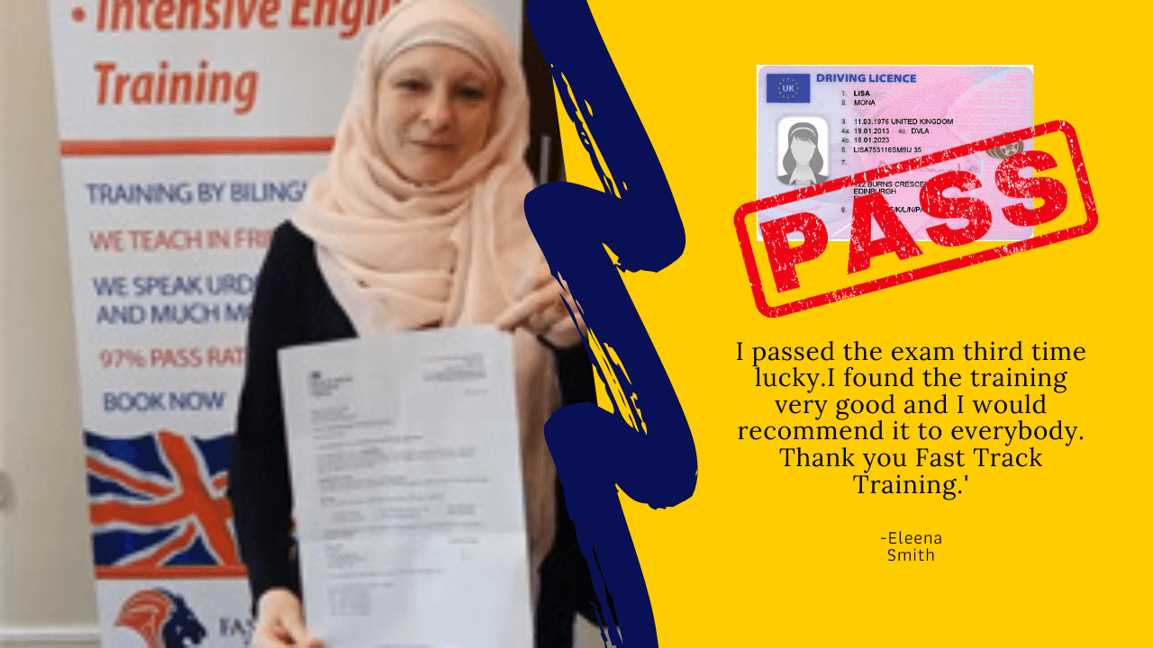 Eleena Smith passes her driving theory test