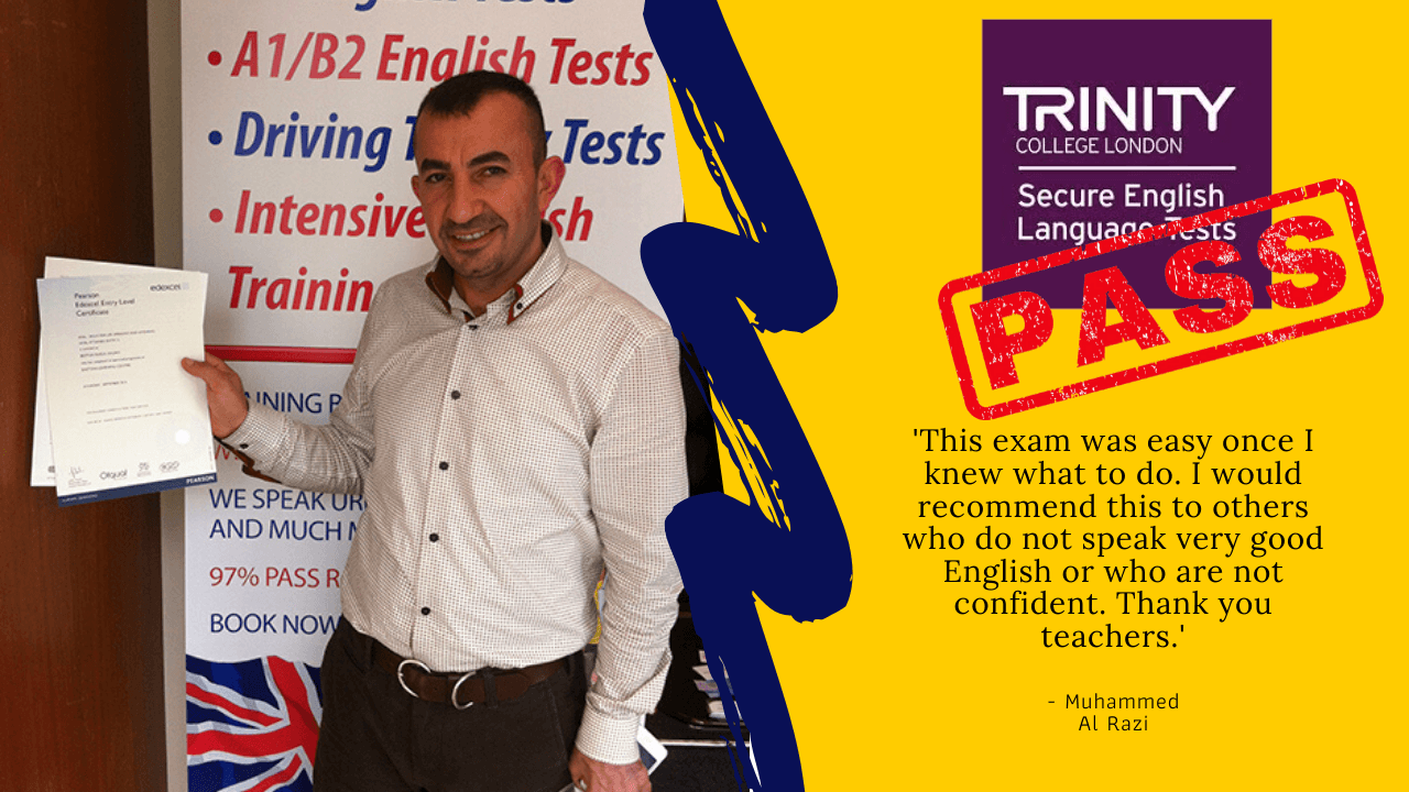 Muhammed Al Razi has passed b1 english test