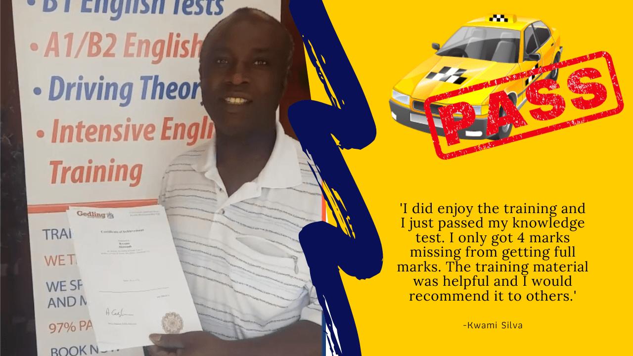 Kwami Silva passed taxi wolverhampton
