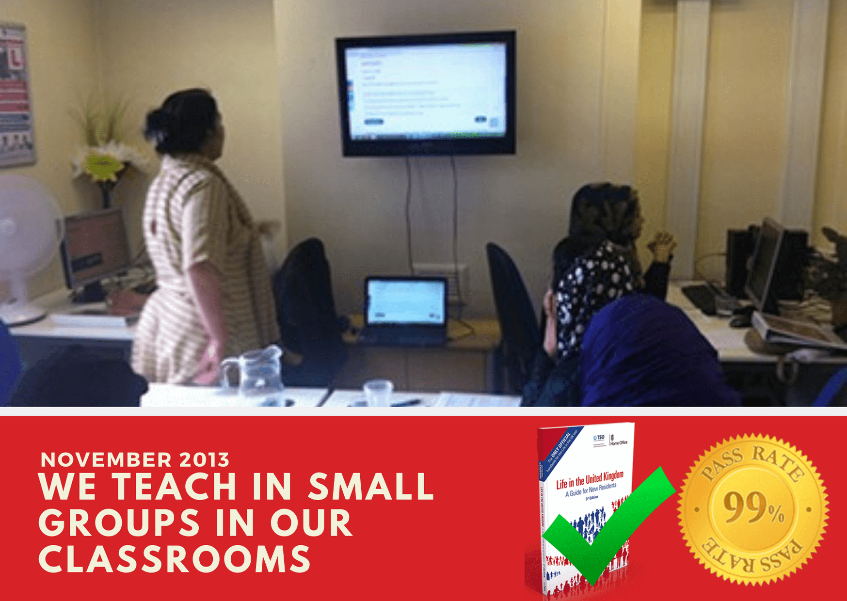 Life in the Uk test training with fast track training teachers