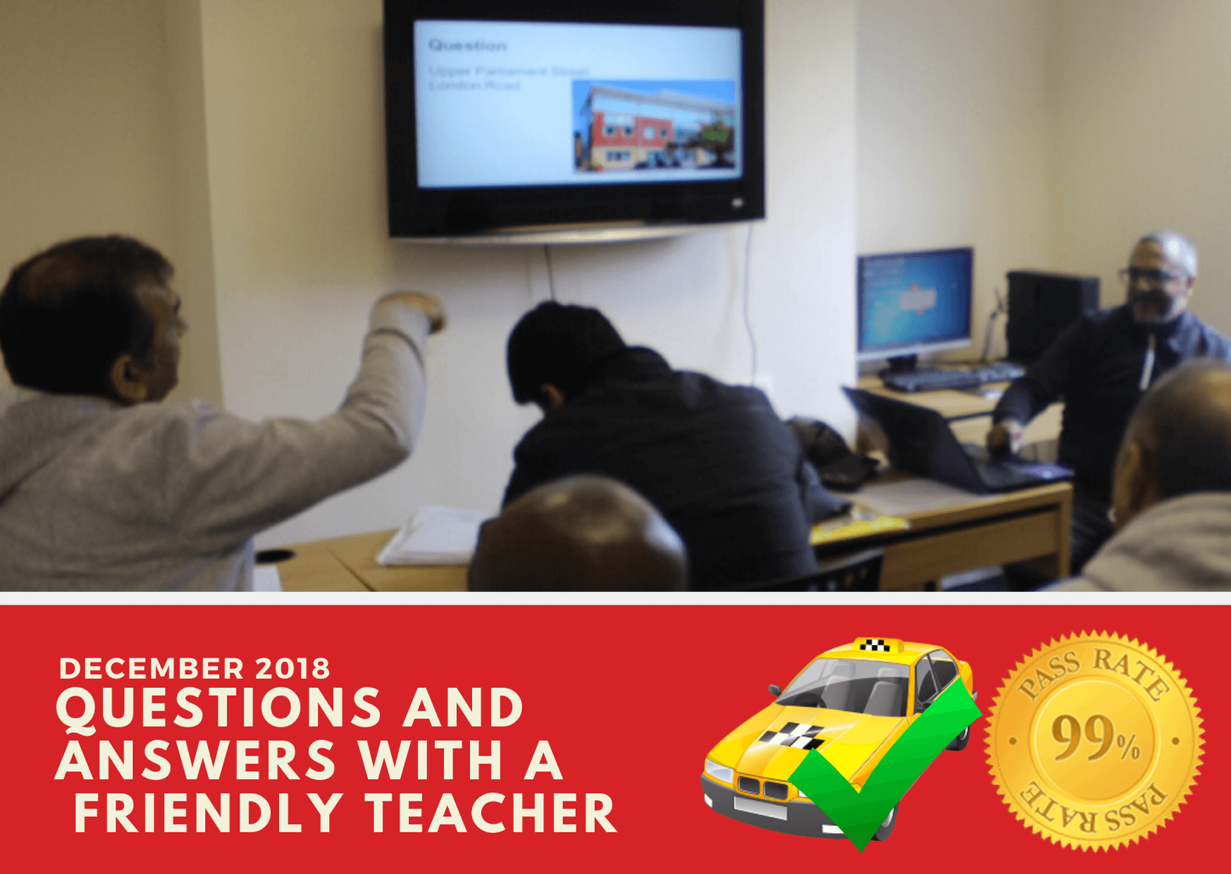 Wolverhampton taxi knowledge test training with classroom teachers