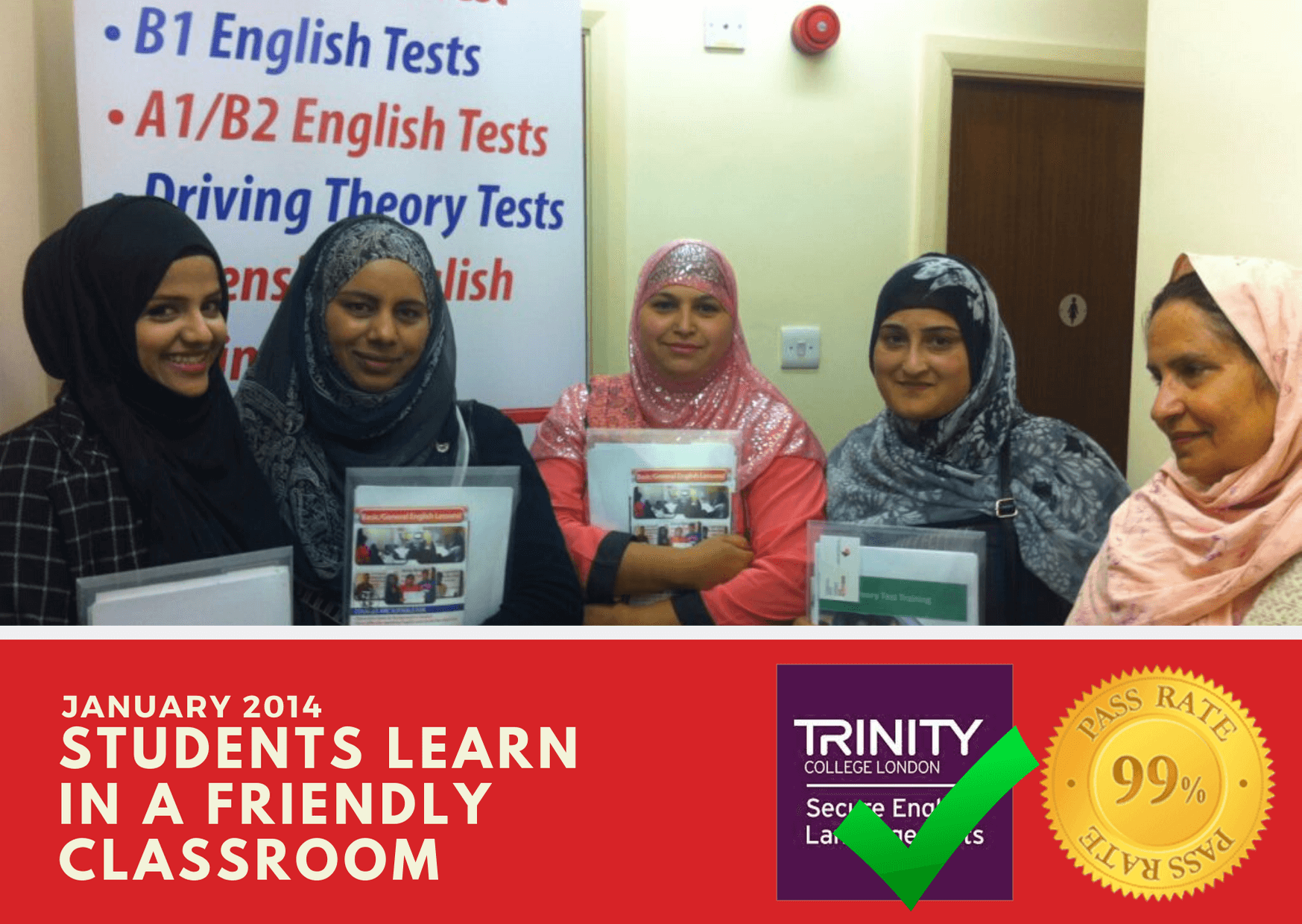 B1 English test training with our female students