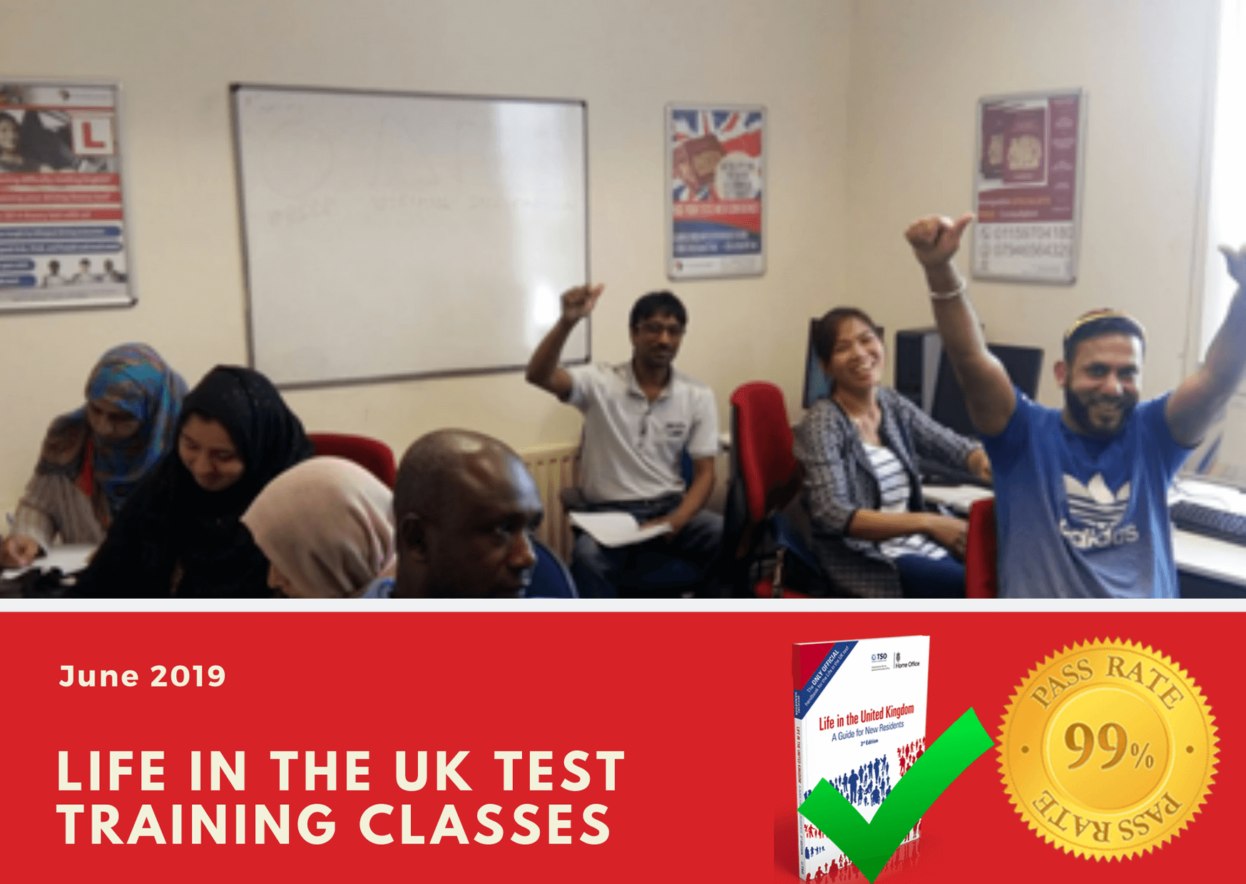 Pass your life in the uk test online or in our classrooms