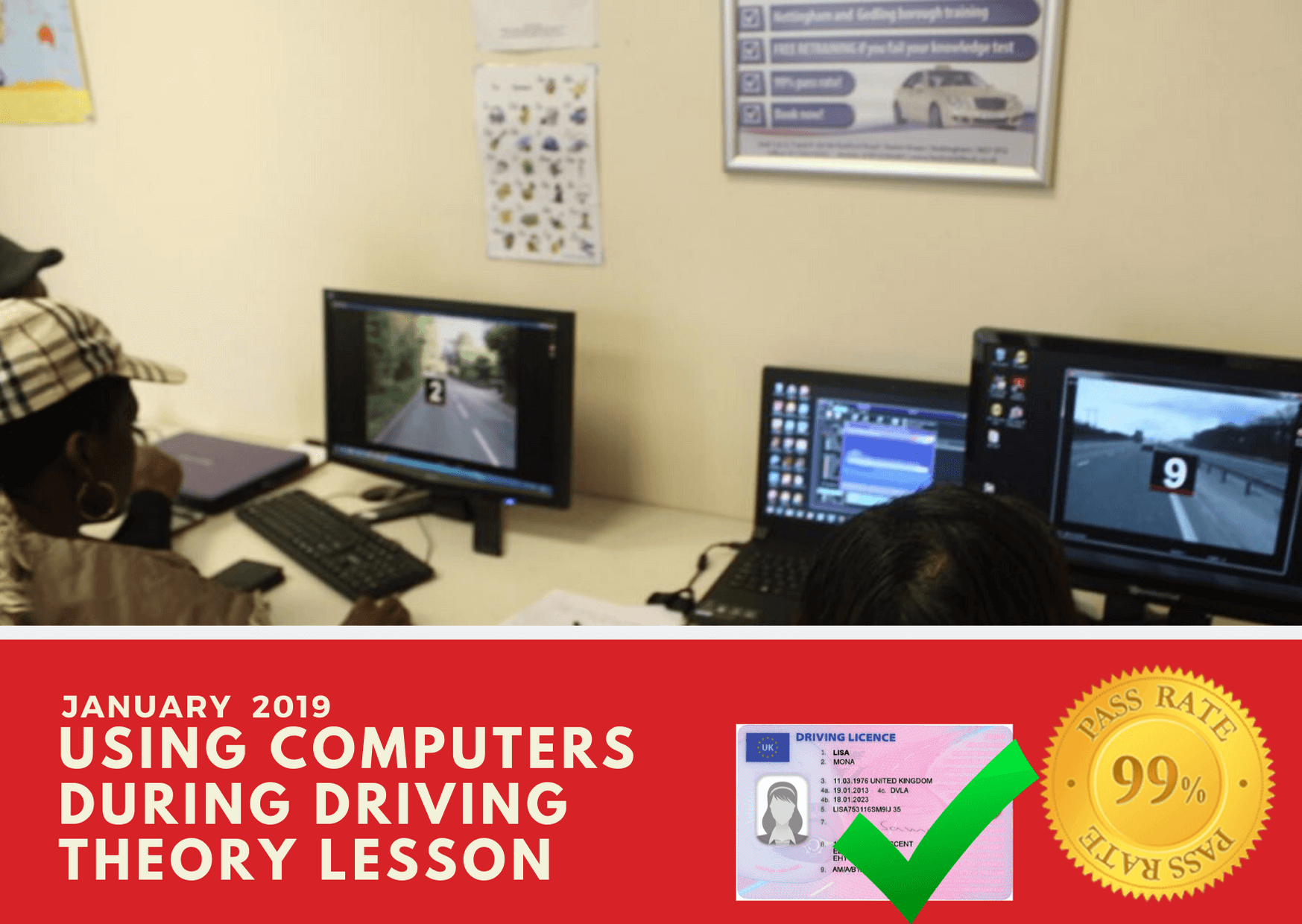 Our driving theory test lessons can be done online or in our classrooms