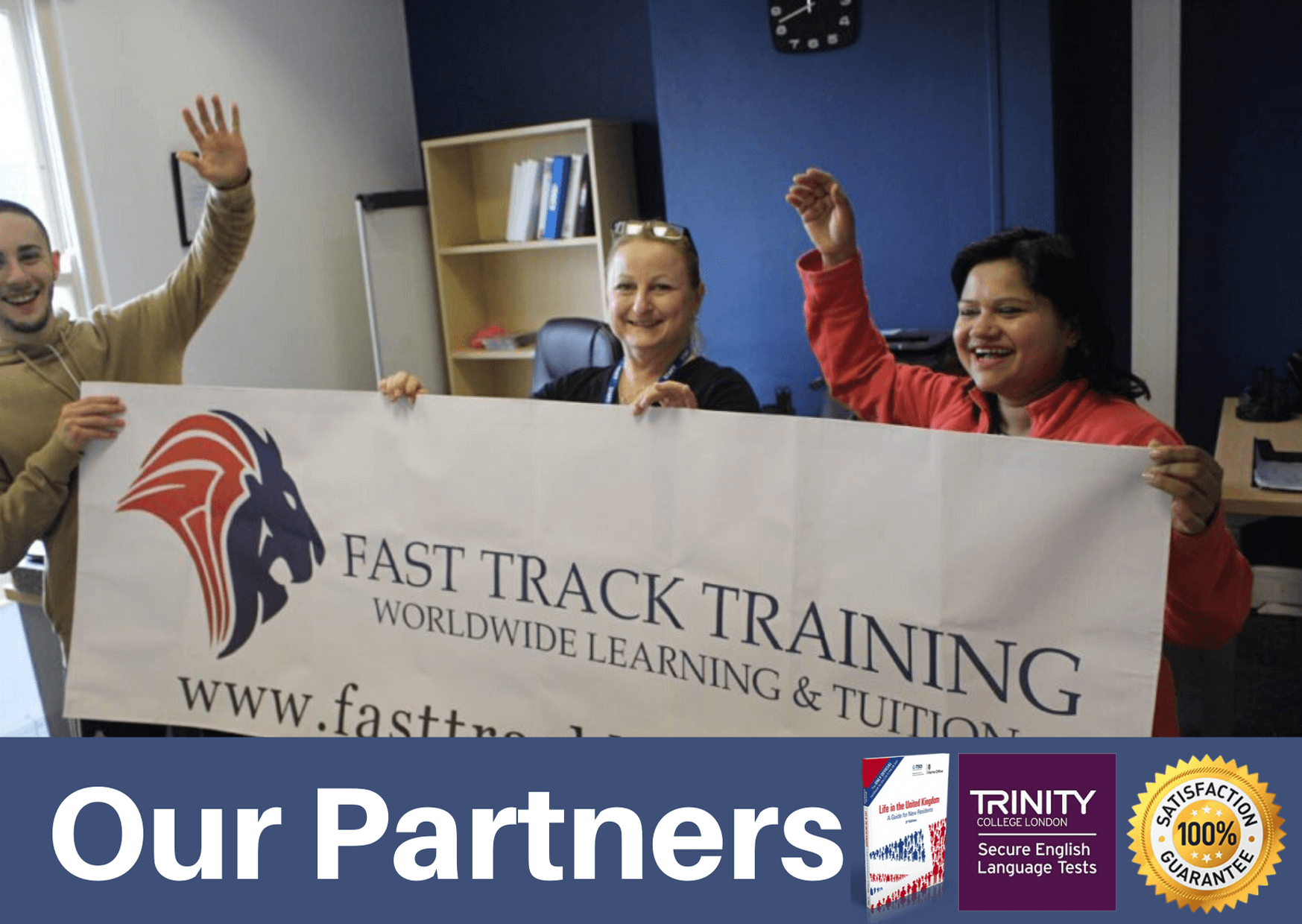 our partners are fast track training
