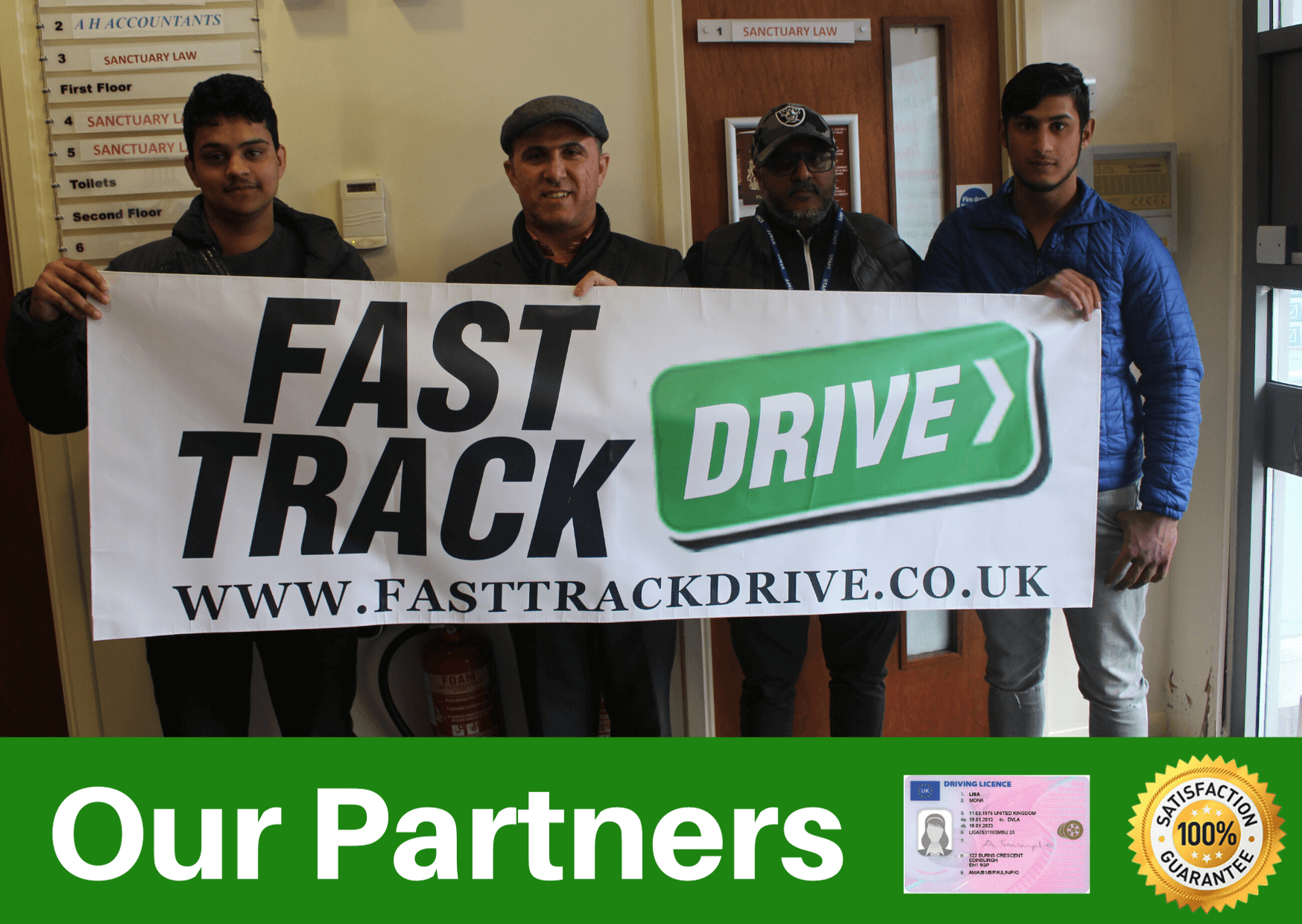 our partners for the driving theory test