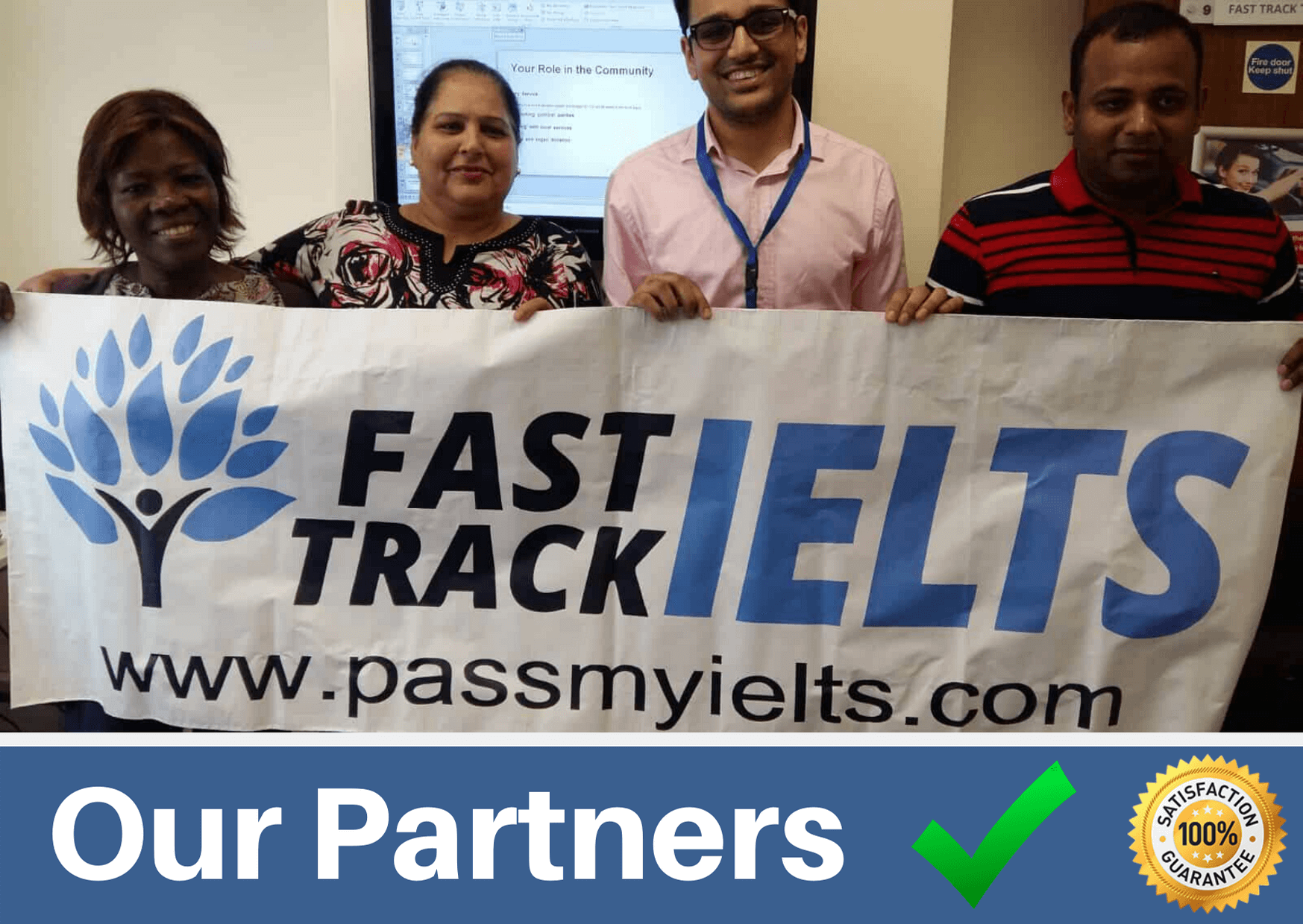 our partners are fast track ielts