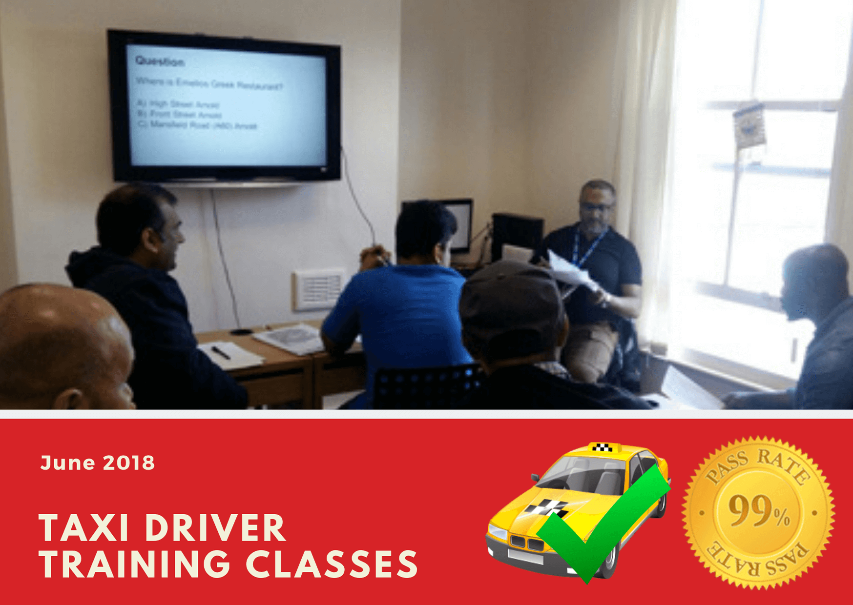 Our classrooms teach taxi knowledge test training for wolverhampton